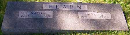 FEARN, DONALD E. - Stark County, Ohio | DONALD E. FEARN - Ohio Gravestone Photos