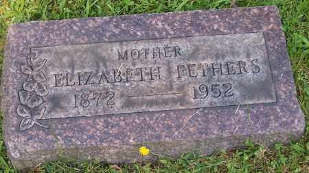 FETHERS, ELIZABETH - Stark County, Ohio   ELIZABETH FETHERS - Ohio Gravestone Photos