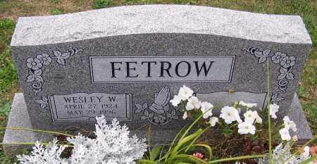 FETROW, WESLEY W. - Stark County, Ohio | WESLEY W. FETROW - Ohio Gravestone Photos