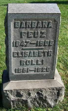 FEUZ, BARBARA - Stark County, Ohio | BARBARA FEUZ - Ohio Gravestone Photos