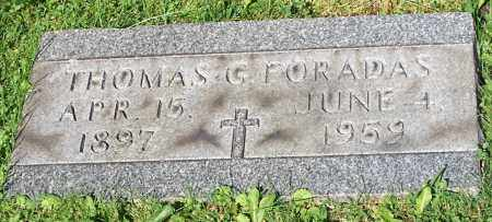FORADAS, THOMAS G. - Stark County, Ohio | THOMAS G. FORADAS - Ohio Gravestone Photos