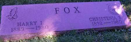 FOX, HARRY I. - Stark County, Ohio | HARRY I. FOX - Ohio Gravestone Photos