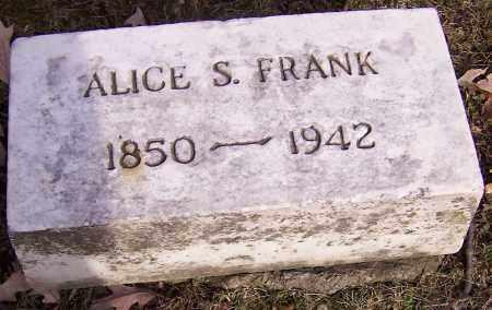 FRANK, ALICE S. - Stark County, Ohio | ALICE S. FRANK - Ohio Gravestone Photos