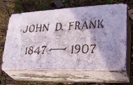 FRANK, JOHN D. - Stark County, Ohio | JOHN D. FRANK - Ohio Gravestone Photos