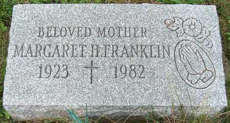 FRANKLIN, MARGARET H. - Stark County, Ohio | MARGARET H. FRANKLIN - Ohio Gravestone Photos