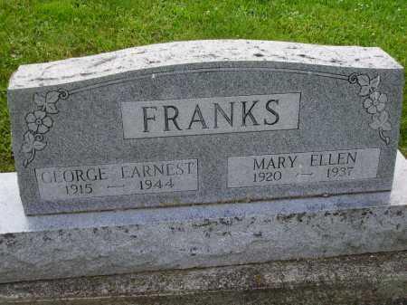 FRANKS, MARY ELLEN - Stark County, Ohio | MARY ELLEN FRANKS - Ohio Gravestone Photos