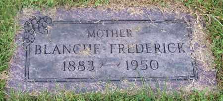 FREDERICK, BLANCHE - Stark County, Ohio | BLANCHE FREDERICK - Ohio Gravestone Photos