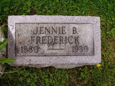 FREDERICK, JENNIE B. - Stark County, Ohio   JENNIE B. FREDERICK - Ohio Gravestone Photos
