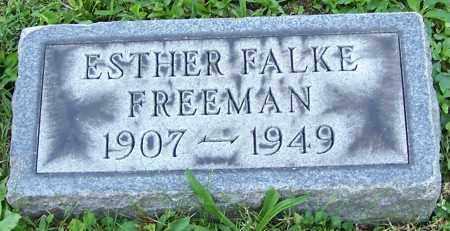 FREEMAN, ESTHER FALKE - Stark County, Ohio   ESTHER FALKE FREEMAN - Ohio Gravestone Photos