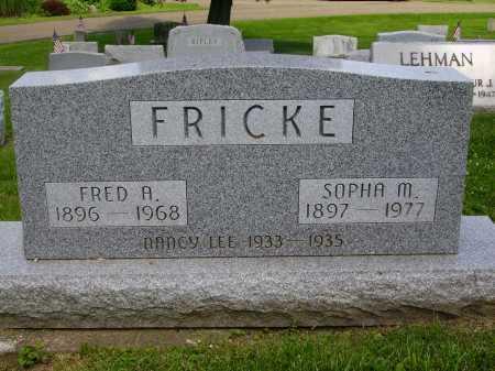 FRICKE, NANCY LEE - Stark County, Ohio | NANCY LEE FRICKE - Ohio Gravestone Photos