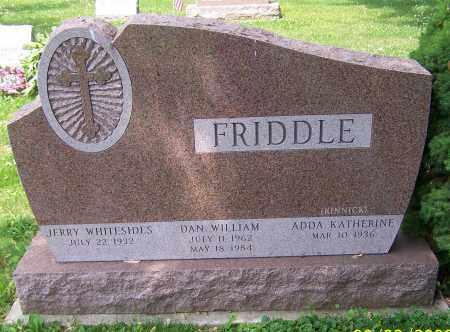 FRIDDLE, DAN WILLIAM - Stark County, Ohio | DAN WILLIAM FRIDDLE - Ohio Gravestone Photos