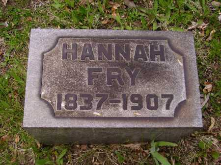 FRY, HANNAH - Stark County, Ohio | HANNAH FRY - Ohio Gravestone Photos