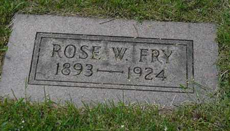 FRY, ROSE W. - Stark County, Ohio | ROSE W. FRY - Ohio Gravestone Photos
