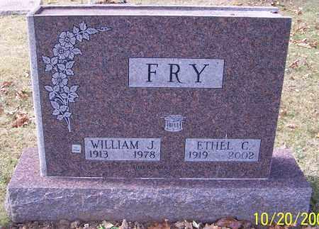 FRY, WILLIAM J. - Stark County, Ohio   WILLIAM J. FRY - Ohio Gravestone Photos
