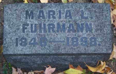 FUHRMANN, MARIA L. - Stark County, Ohio | MARIA L. FUHRMANN - Ohio Gravestone Photos