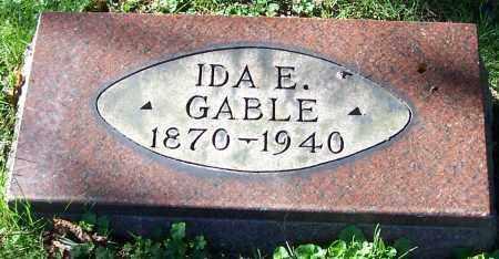 GABLE, IDA E. - Stark County, Ohio   IDA E. GABLE - Ohio Gravestone Photos