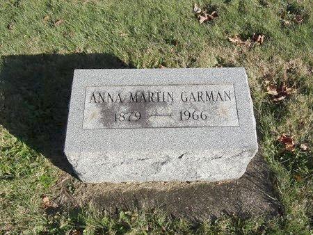 MARTIN GARMAN, ANNA - Stark County, Ohio | ANNA MARTIN GARMAN - Ohio Gravestone Photos