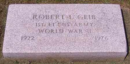 GEIB, ROBERT L. - Stark County, Ohio | ROBERT L. GEIB - Ohio Gravestone Photos
