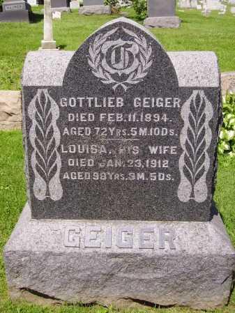 TRUMP GEIGER, LOUISA - Stark County, Ohio | LOUISA TRUMP GEIGER - Ohio Gravestone Photos