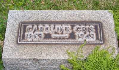 GEIS, CAROLINE - Stark County, Ohio   CAROLINE GEIS - Ohio Gravestone Photos