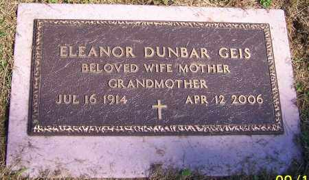 DUNBAR GEIS, ELEANOR - Stark County, Ohio | ELEANOR DUNBAR GEIS - Ohio Gravestone Photos