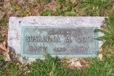 BERGER GEIS, SUSANNA M. - Stark County, Ohio | SUSANNA M. BERGER GEIS - Ohio Gravestone Photos
