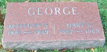 GEORGE, MARY K. - Stark County, Ohio | MARY K. GEORGE - Ohio Gravestone Photos
