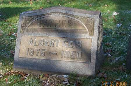GEIS, ALBERT CHARLES - Stark County, Ohio | ALBERT CHARLES GEIS - Ohio Gravestone Photos