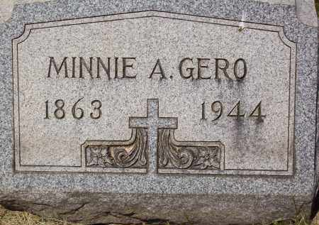 GERO, MINNIE A. - Stark County, Ohio | MINNIE A. GERO - Ohio Gravestone Photos
