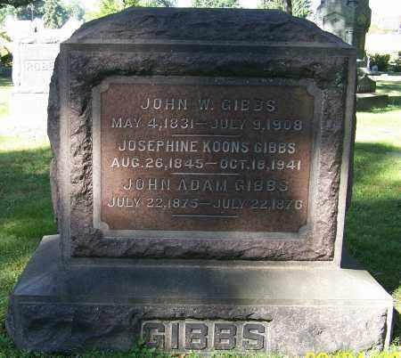 GIBBS, JOHN W. - Stark County, Ohio | JOHN W. GIBBS - Ohio Gravestone Photos