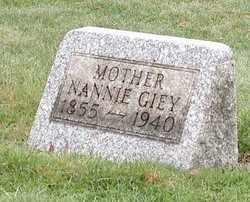 MORGAN GIEY, NANNIE - Stark County, Ohio | NANNIE MORGAN GIEY - Ohio Gravestone Photos