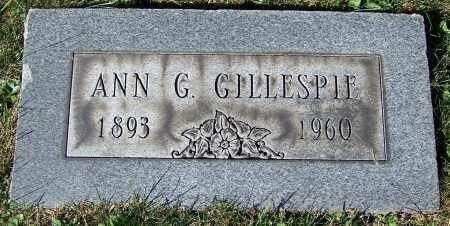 GILLESPIE, ANN G. - Stark County, Ohio   ANN G. GILLESPIE - Ohio Gravestone Photos