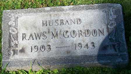 GORDON, RAWS M. - Stark County, Ohio | RAWS M. GORDON - Ohio Gravestone Photos
