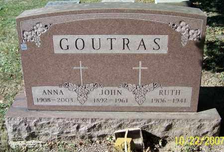 GOUTRAS, JOHN - Stark County, Ohio | JOHN GOUTRAS - Ohio Gravestone Photos