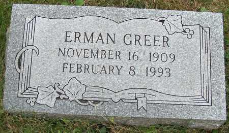 GREER, ERMAN - Stark County, Ohio | ERMAN GREER - Ohio Gravestone Photos