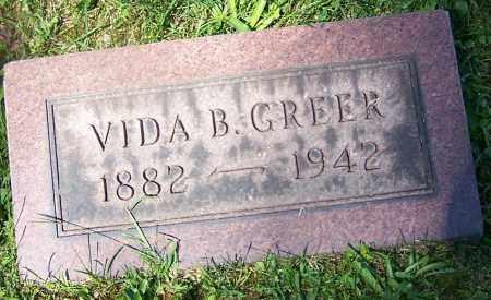 GREER, VIDA B. - Stark County, Ohio | VIDA B. GREER - Ohio Gravestone Photos