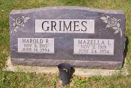 GRIMES, MAZELLA I. - Stark County, Ohio   MAZELLA I. GRIMES - Ohio Gravestone Photos