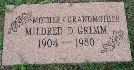 GRIMM, MILDRED D. - Stark County, Ohio | MILDRED D. GRIMM - Ohio Gravestone Photos