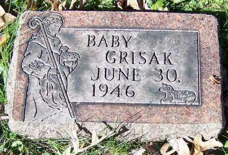 GRISAK, BABY - Stark County, Ohio | BABY GRISAK - Ohio Gravestone Photos
