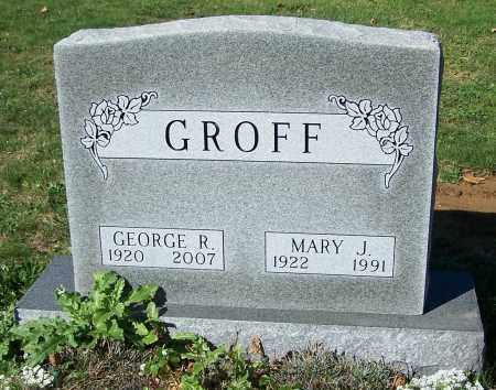 GROFF, MARY J. - Stark County, Ohio   MARY J. GROFF - Ohio Gravestone Photos