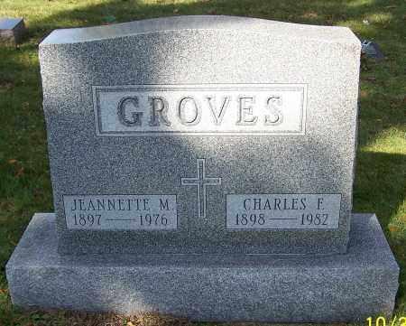 GROVES, CHARLES F. - Stark County, Ohio | CHARLES F. GROVES - Ohio Gravestone Photos