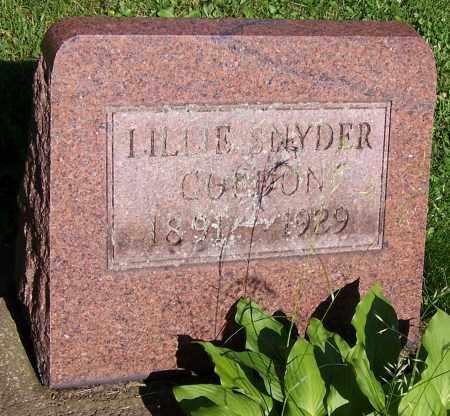 GURDON, LILLIE SNYDER - Stark County, Ohio | LILLIE SNYDER GURDON - Ohio Gravestone Photos