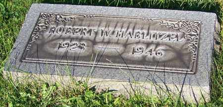 HABLITZEL, ROBERT W. - Stark County, Ohio | ROBERT W. HABLITZEL - Ohio Gravestone Photos