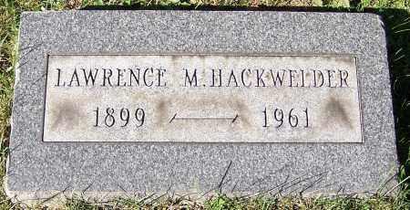 HACKWELDER, LAWRENCE M. - Stark County, Ohio | LAWRENCE M. HACKWELDER - Ohio Gravestone Photos