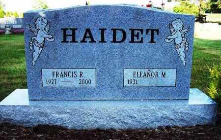 HAIDET, FRANCIS R. - Stark County, Ohio | FRANCIS R. HAIDET - Ohio Gravestone Photos