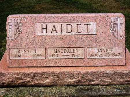 HAIDET, MAGDALEN - Stark County, Ohio | MAGDALEN HAIDET - Ohio Gravestone Photos