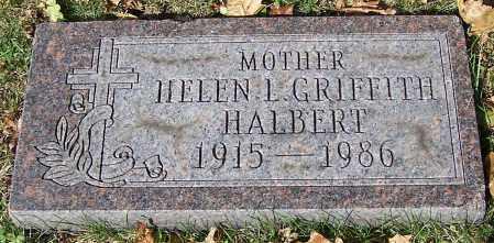 HALBERT, HELEN L. GRIFFITH - Stark County, Ohio | HELEN L. GRIFFITH HALBERT - Ohio Gravestone Photos