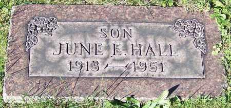 HALL, JUNE E. - Stark County, Ohio | JUNE E. HALL - Ohio Gravestone Photos