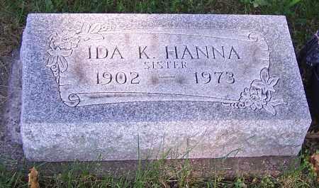 HANNA, IDA K. - Stark County, Ohio   IDA K. HANNA - Ohio Gravestone Photos