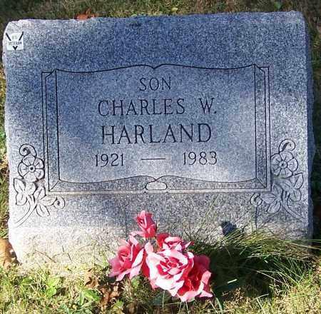 HARLAND, CHARLES W. - Stark County, Ohio   CHARLES W. HARLAND - Ohio Gravestone Photos
